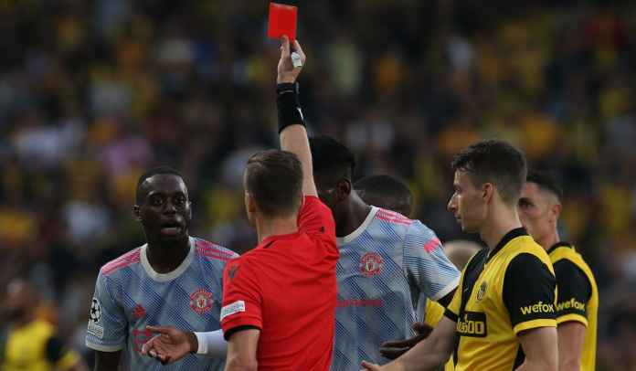 Manchester United right-back Aaron Wan-Bissaka has been given a two-match ban in the Champions League for a red card.  Since a 2-1 defeat to Young Boys two weeks ago.